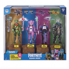 Набор фигурок Фортнайт 4 героя с аксессуарами Fortnite Squad Mode 4 Figure Pack (10 см) FNT0019