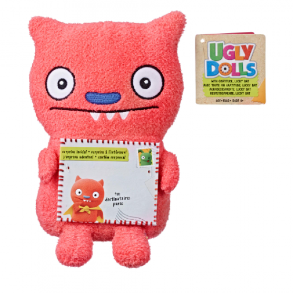 Плюшевая игрушка Лаки Бет с конвертом UglyDolls Lucky Bat Hasbro E4557