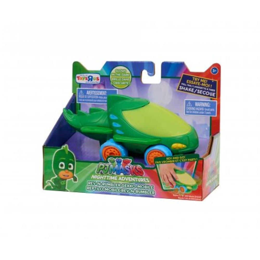 Машинка Гекко скорость и грохотание PJ Masks Nighttime Adventures Rev-N-Rumbler Gekko Mobile 24720