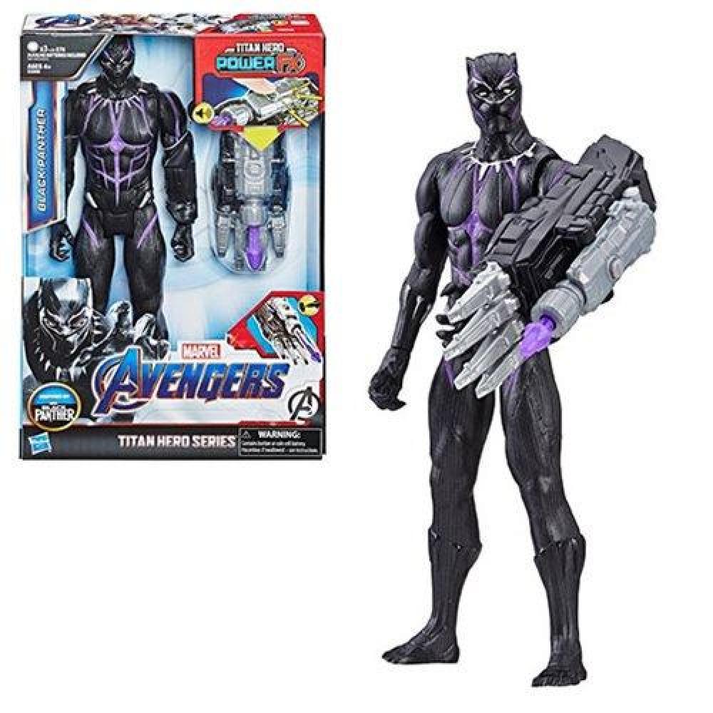 Фигурка Черная Пантера 30 см с оружием и звуком Black Panther Hasbro E3306
