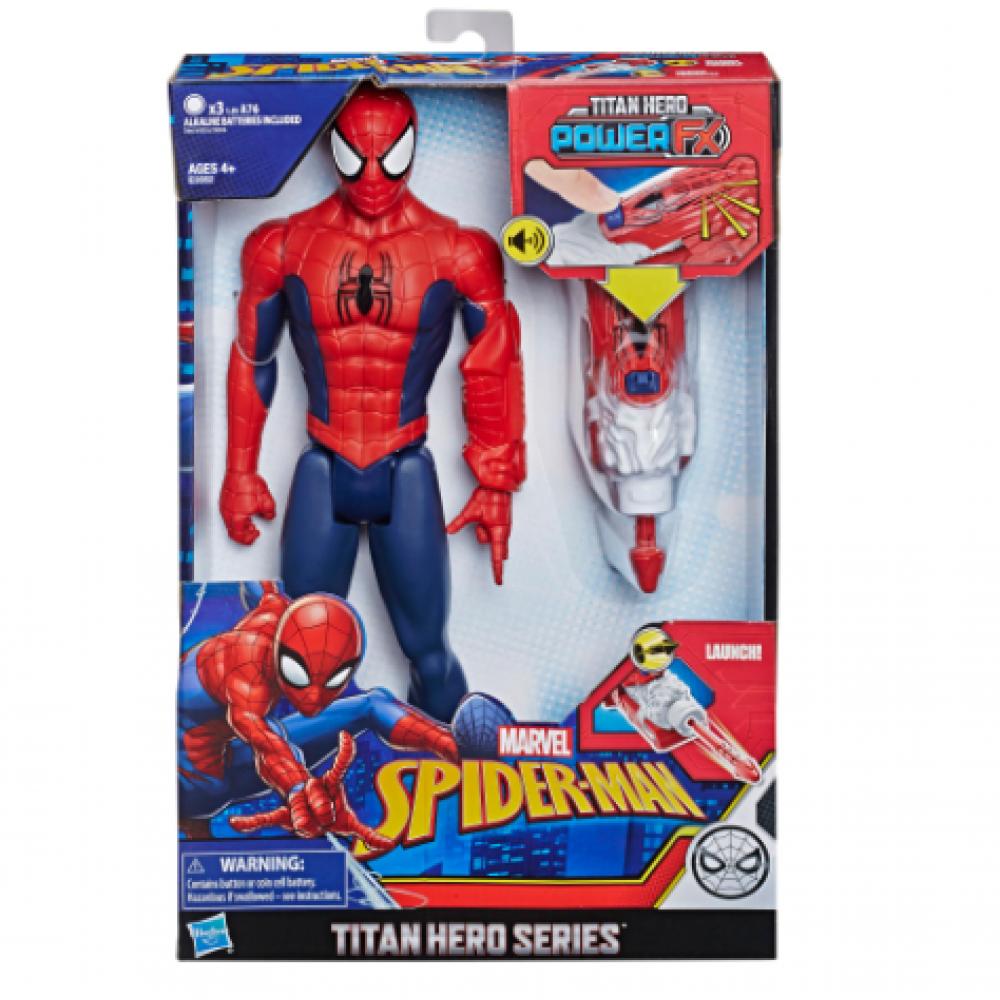 Фигурка Человек Паук 30 см со звуком и оружием Iron Spider Hasbro E3552