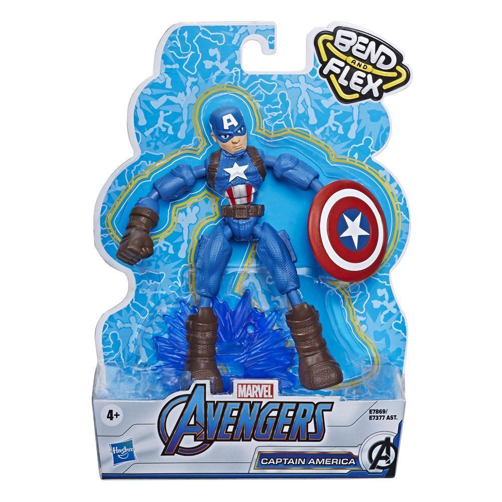 Фигурка Капитан Америка Гнущийся Bend And Flex Captain America Hasbro E7869