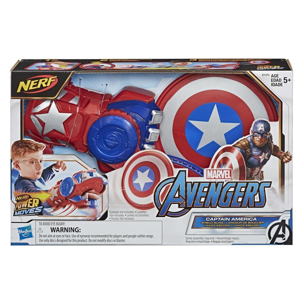 Nerf Перчатка Запускает Щит Капитана Америки Captain America Disc Hasbro E7375