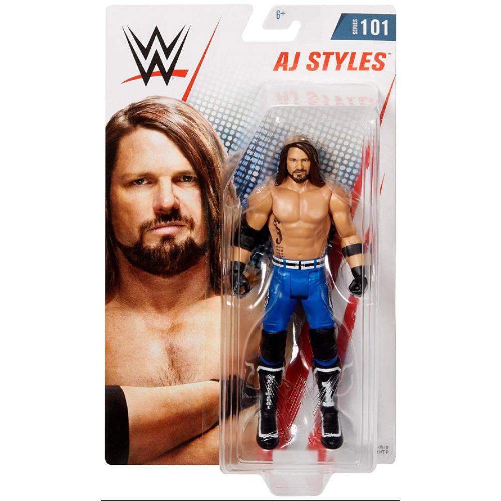Фигурка Эй Джей Стайлз Серия 101 WWE Wrestling Series 101 AJ Styles Action Figure Mattel 309537