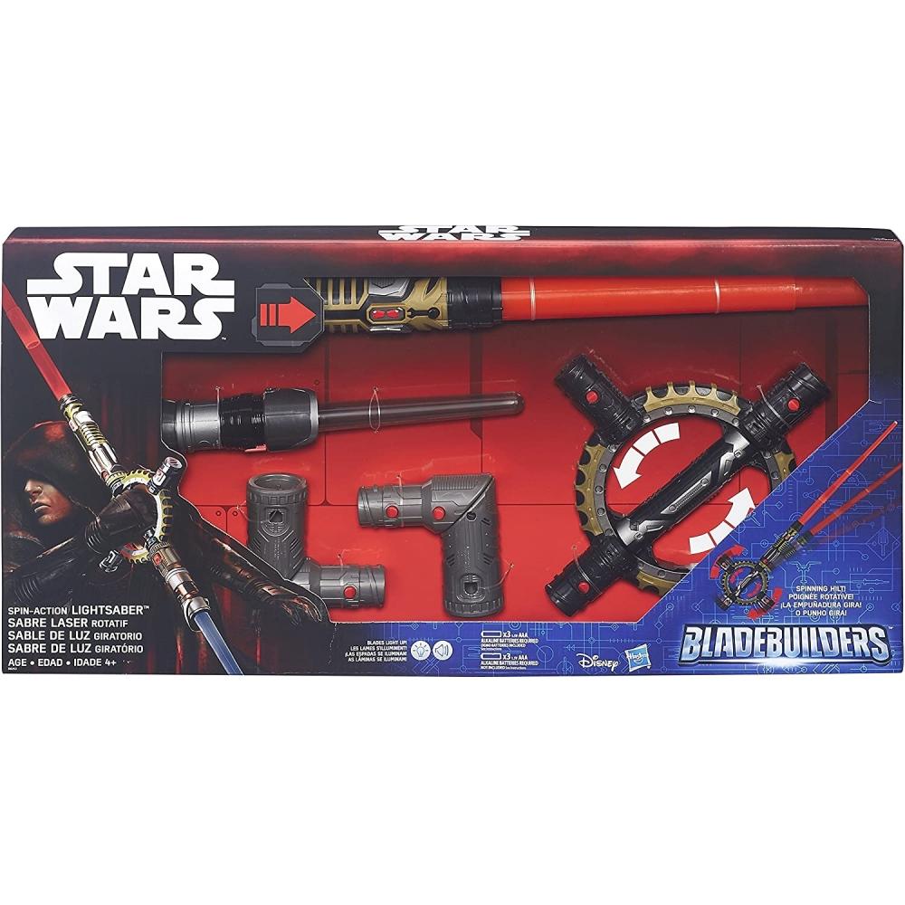 Световой Меч Ситхов с вращающимся механизмоми кинжалом Star Wars Spin-Action Lightsaber Hasbro B8263