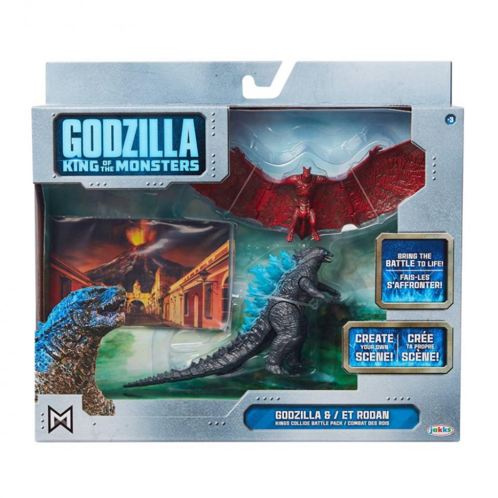 Фигурки Годзилла Король монстров и Родан Godzilla & Rodan Jakks 95842