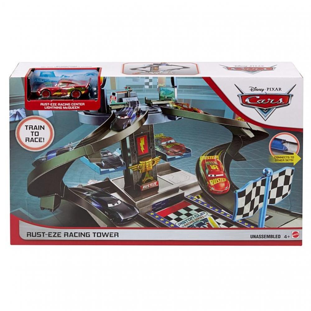 Дисней Тачки Гоночный трек Башня Rust-Eze Racing Tower Race Mattel GJW42