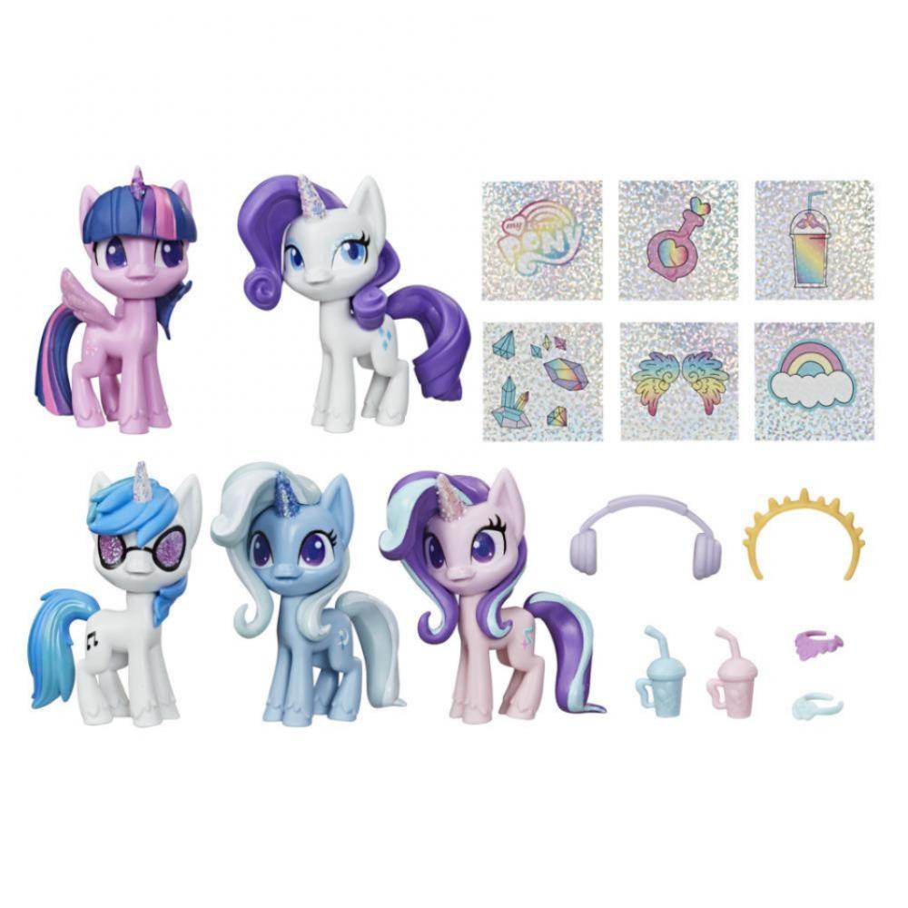 Набор 5 Пони Единорог Блестящая Коллекция Unicorn Sparkle Hasbro E9106