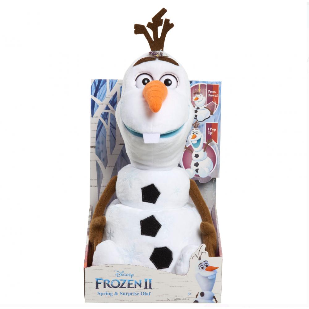 Мягкая Игрушка Снеговик Олаф 38 см Прыгает Говорит Холодное Сердце 2 Frozen 2 Olaf Just Play 32565
