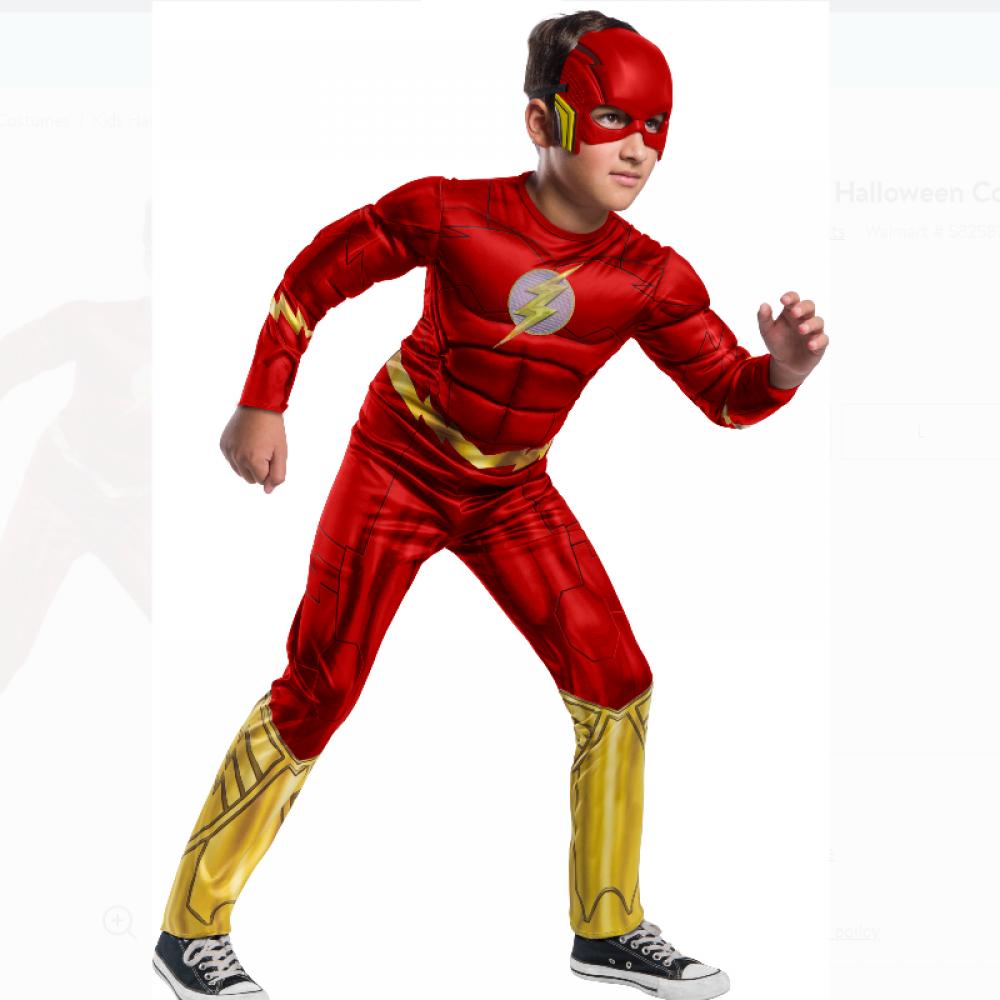 Детский Костюм с Маской Флэш 4-6 лет Flash Classic Child Costume Rubie's 702262