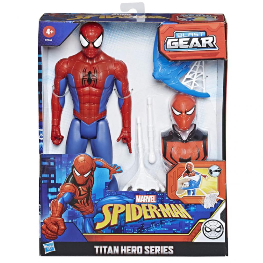 Фигурка Человек-паук 30 см с бластером стреляет паутиной Spider-Man Blast Gear Hasbro E7344