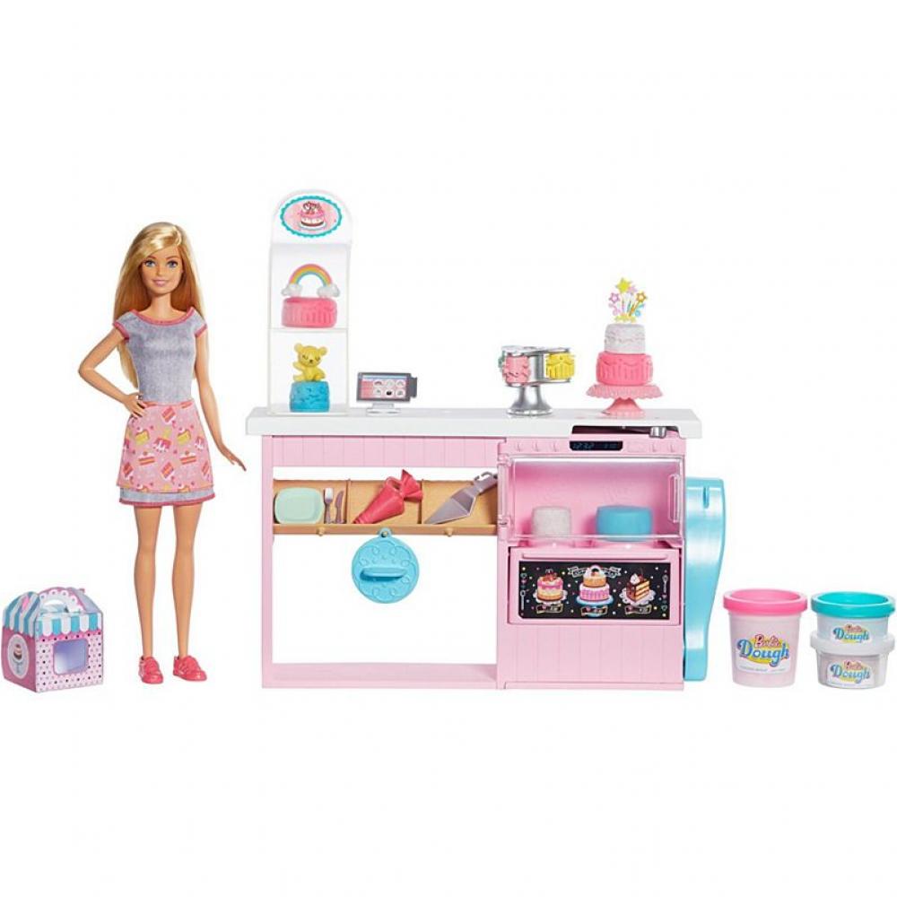 Барби Набор для выпечки Barbie Playset Cake Decorating Molding Dough Mattel GFP59