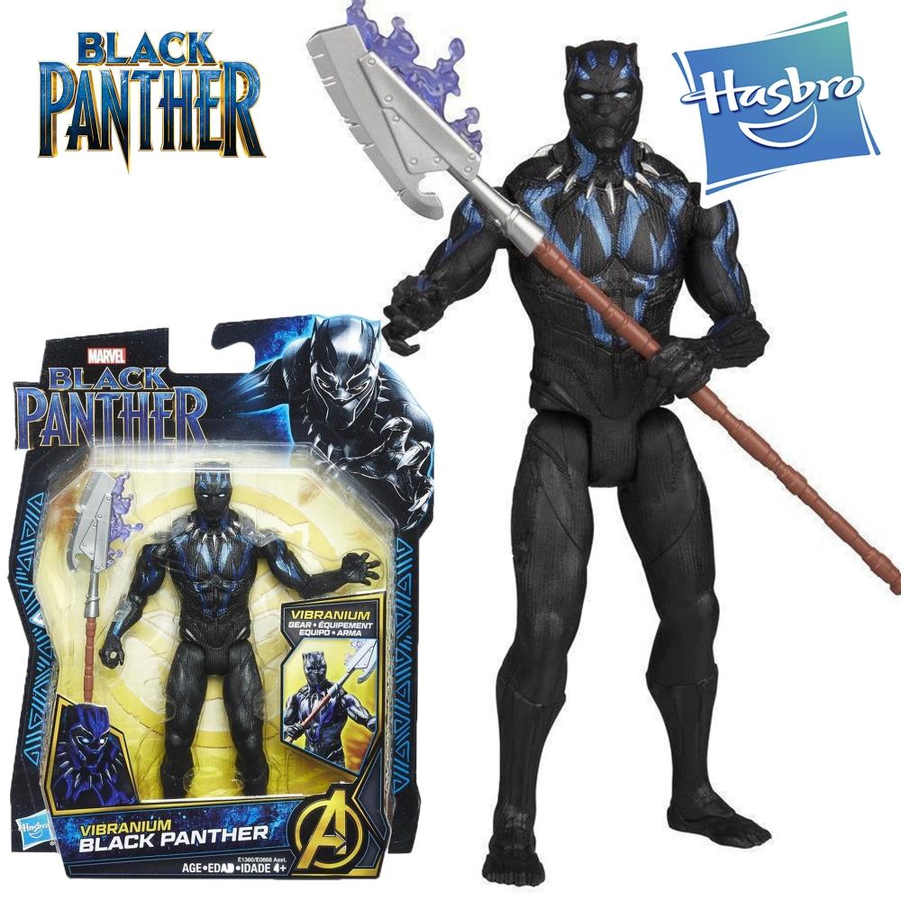 Фигурка Черная Пантера 16 см Вибраниум Герой Марвел Black Panther Hasbro E1360