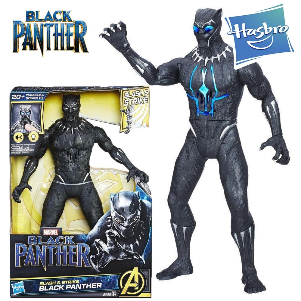 Фигурка Черная Пантера 33 см с световыми и звуковыми эффектами Black Panther Hasbro E0870