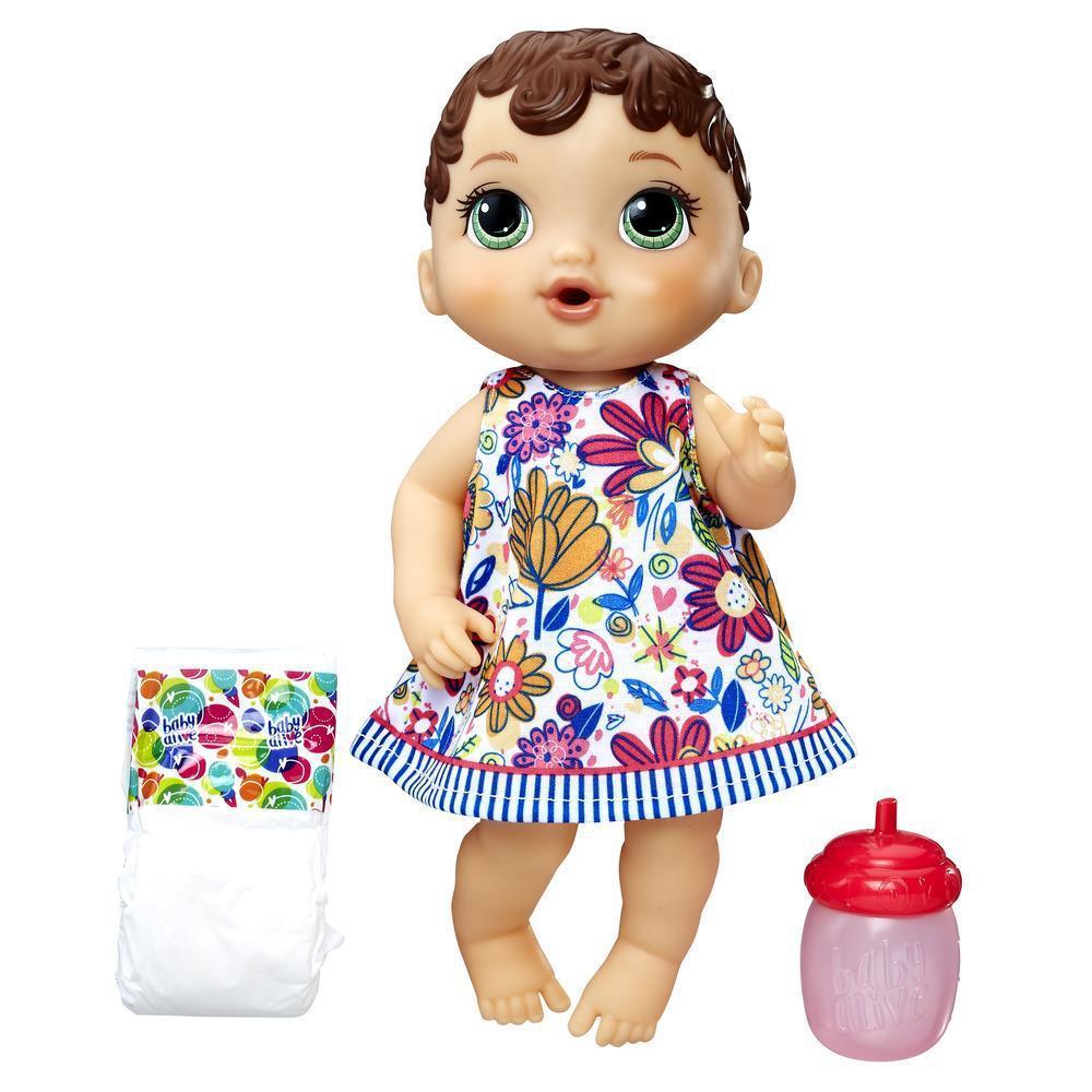 Кукла Baby Alive Lil' Sips Baby - Blonde Scupted Hair Hasbro США Беби Элив - пьет, писает