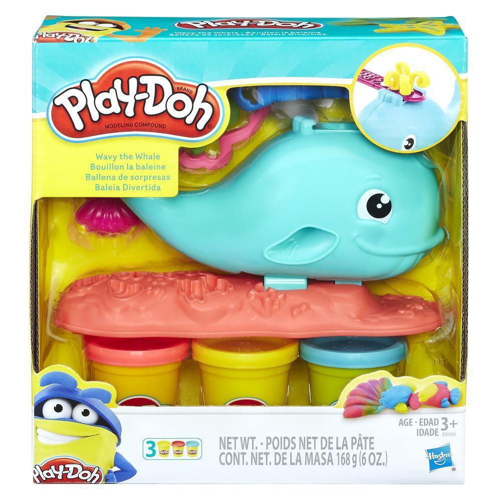Набор для лепки Плей До Hasbro Play-Doh Wavy The Whale Кит E0100