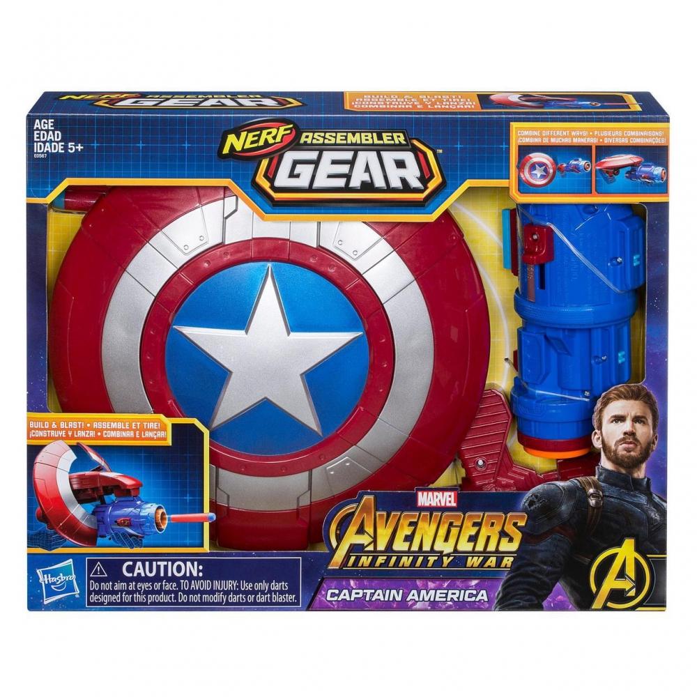 Бластер Щит Трансформер Nerf Капитан Америка Hasbro Captain America E0567