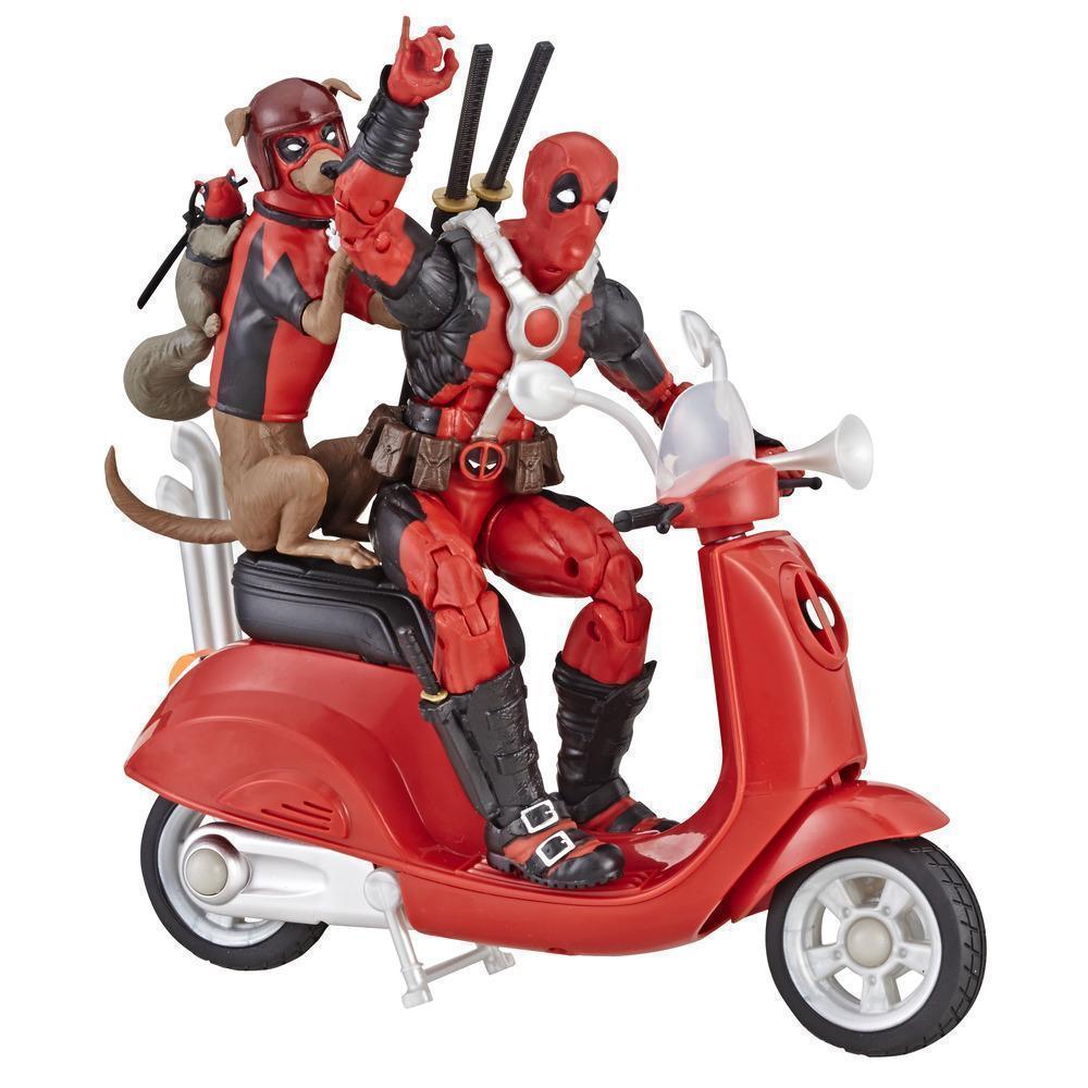 Фигурки Дэдпул на скутере с собакой Legends Series Deadpool Hasbro E4702