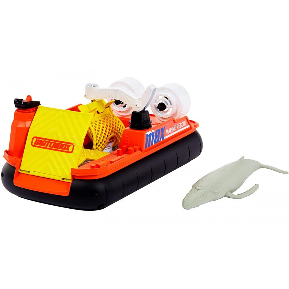 Набор Спасение Океана Лодка с Китом Matchbox Ocean Rescue Mattel GMH69