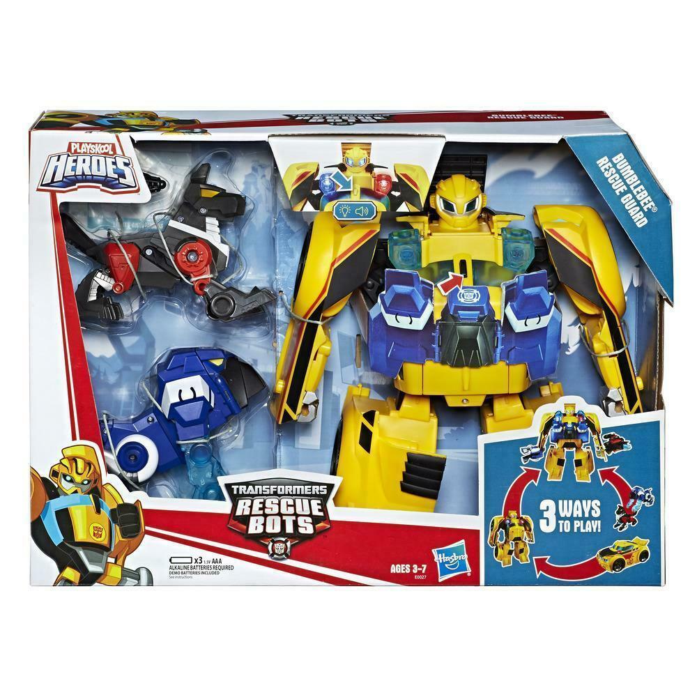 Трансформер Бамблби световые и звуковые эффекты с двумя ботами Bumblebee Rescue Bots Hasbro E0027