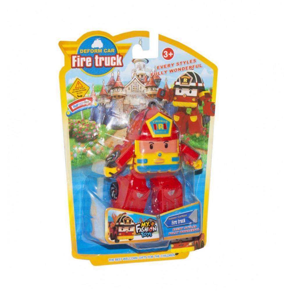 Детский трансформер Robocar POLI 378B высота 12 см (Красный Пожарная)