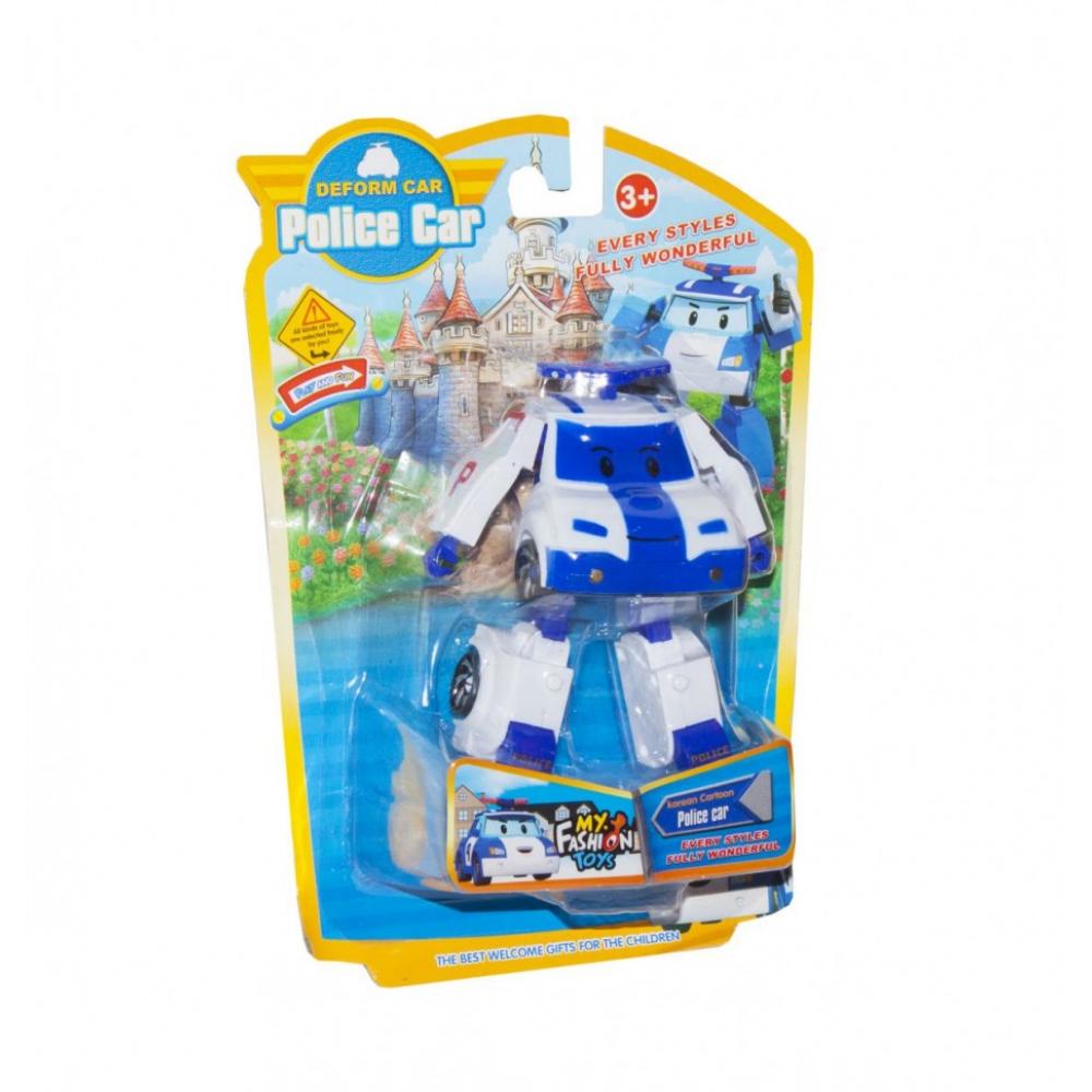 Детский трансформер Robocar POLI 378B высота 12 см (Белый Полиция)