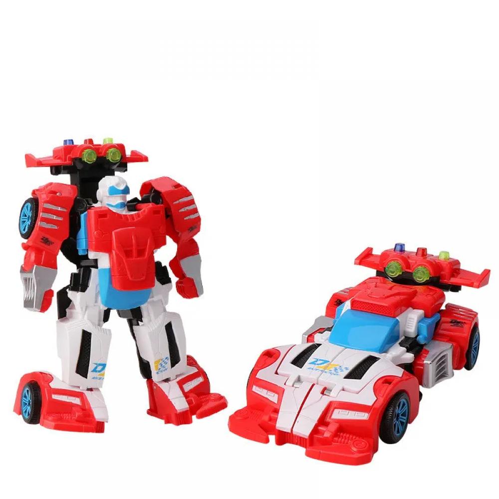 Детский трансформер D622-H05 робот+машинка (Красно-Белый)