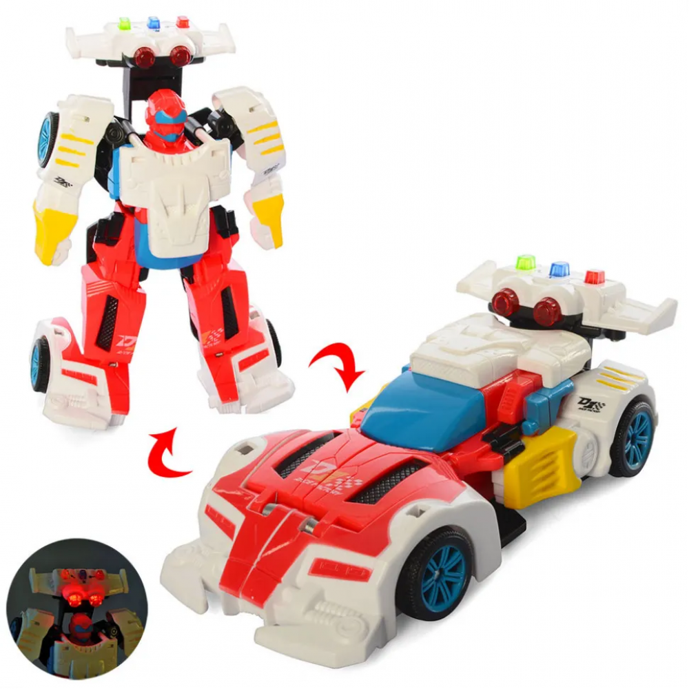Детский трансформер D622-H05 робот+машинка (Бело-Красный)